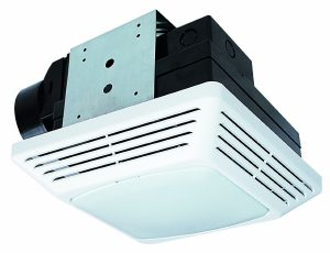 Air King BFQF70 4'' Exhaust Bathroom Fan With Lighting Setup