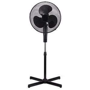 LavoHome Black 16 Inch Floor Standing Oscillating Fan