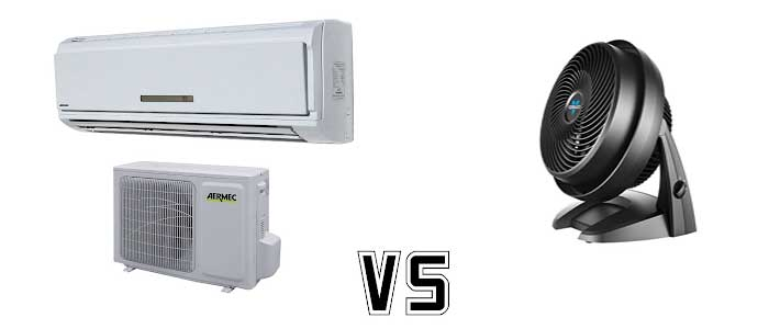 Air-conditioner vs Cooling -fan