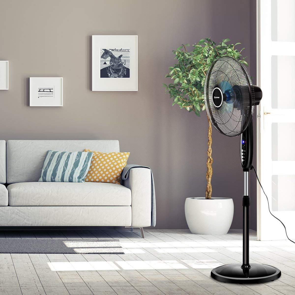 floor fans with remote